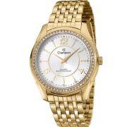 Relógio Champion Feminino C/ Strass Dourado CN29632H