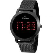 Relógio Champion Feminino Digital Led Preto CH40017D