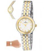 Relógio Champion Feminino Prateado e Dourado CN25387B