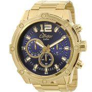 Relógio Condor Masculino Civic Azul e Dourado COVD54AE/4A