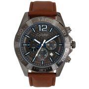 Relógio Condor Masculino Couro Prata Envelhecida COVD33AS/2P