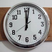 Relógio de Parede Herweg Cromado 40cm 6128 028