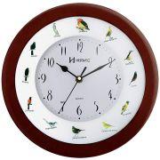 Relógio de Parede Herweg Ponteiro Silencioso Pássaros 6370 084