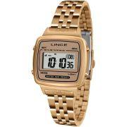 Relógio Lince Feminino Digital Rosé Retrô Quadrado SDRH041L BXRX
