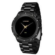 Relógio Lince Feminino Preto Urban Clássico LRN619L XXX