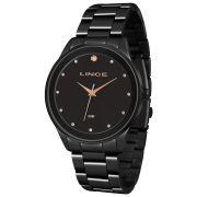 Relógio Lince Feminino Preto Urban Clássico LRNJ090L XXX
