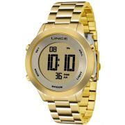 Relógio Lince Feminino Dourado Digital SDPH037L KXKX