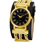 Relógio Lince Feminino Fashion Dourado e Preto LRC4225L