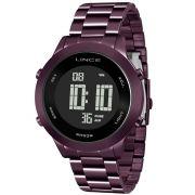 Relógio Lince Feminino Roxo Digital Fashion SDPH083L PXUX