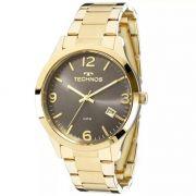 Relógio Technos Feminino Dourado e Cinza Dress 2315ACD/4C