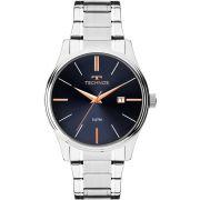 Relógio Technos Masculino Prateado e Azul Steel 2115MPM/1K
