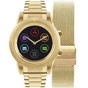 Relógio Technos Smartwatch Connect Duo Dourado P01AC/4P