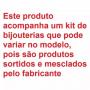 Kit Relógio Champion Dourado CN29936W + Brincos e Colar