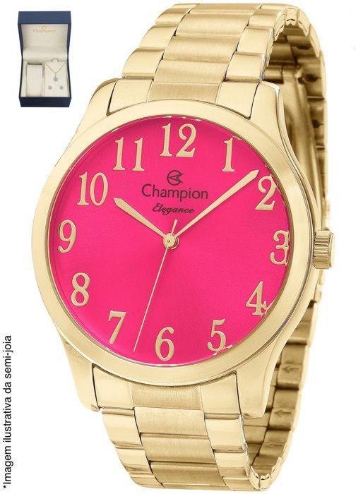Kit Relógio Champion Feminino Elegance Rosa CN26019J