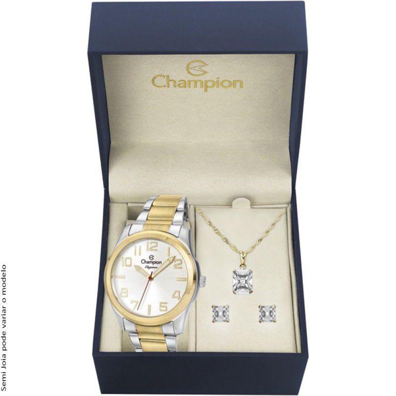 Kit Relógio Champion Feminino Misto Elegance CN27554E