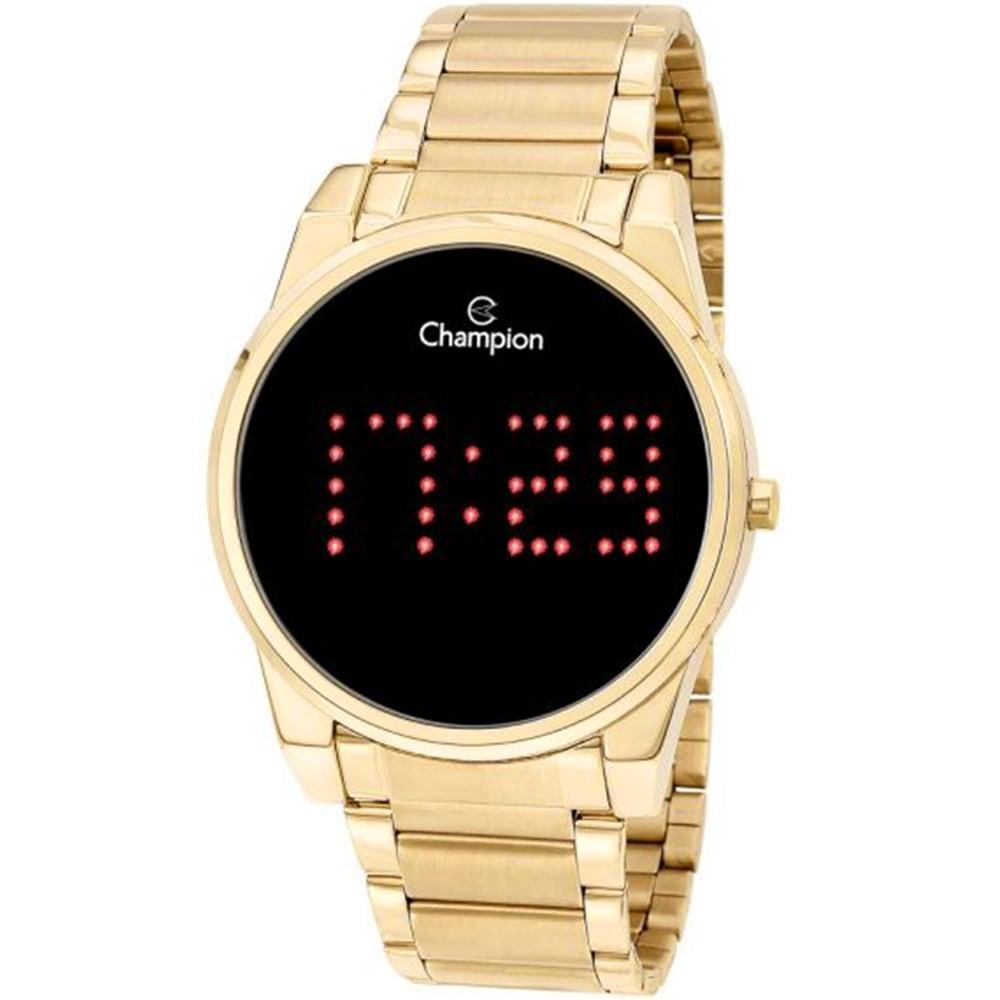 Relógio Champion Feminino Digital Led Dourado CH40053V