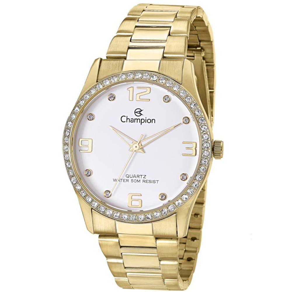 Relógio Champion Feminino Dourado Analógico Social CN29043H