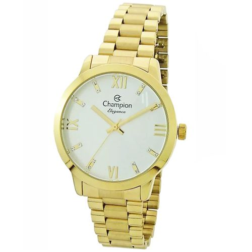 Relógio Champion Feminino Dourado Elegance CN25163H