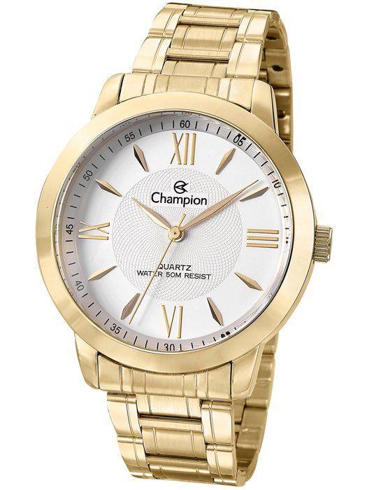 Relógio Champion Feminino Dourado Glamour CH24697H