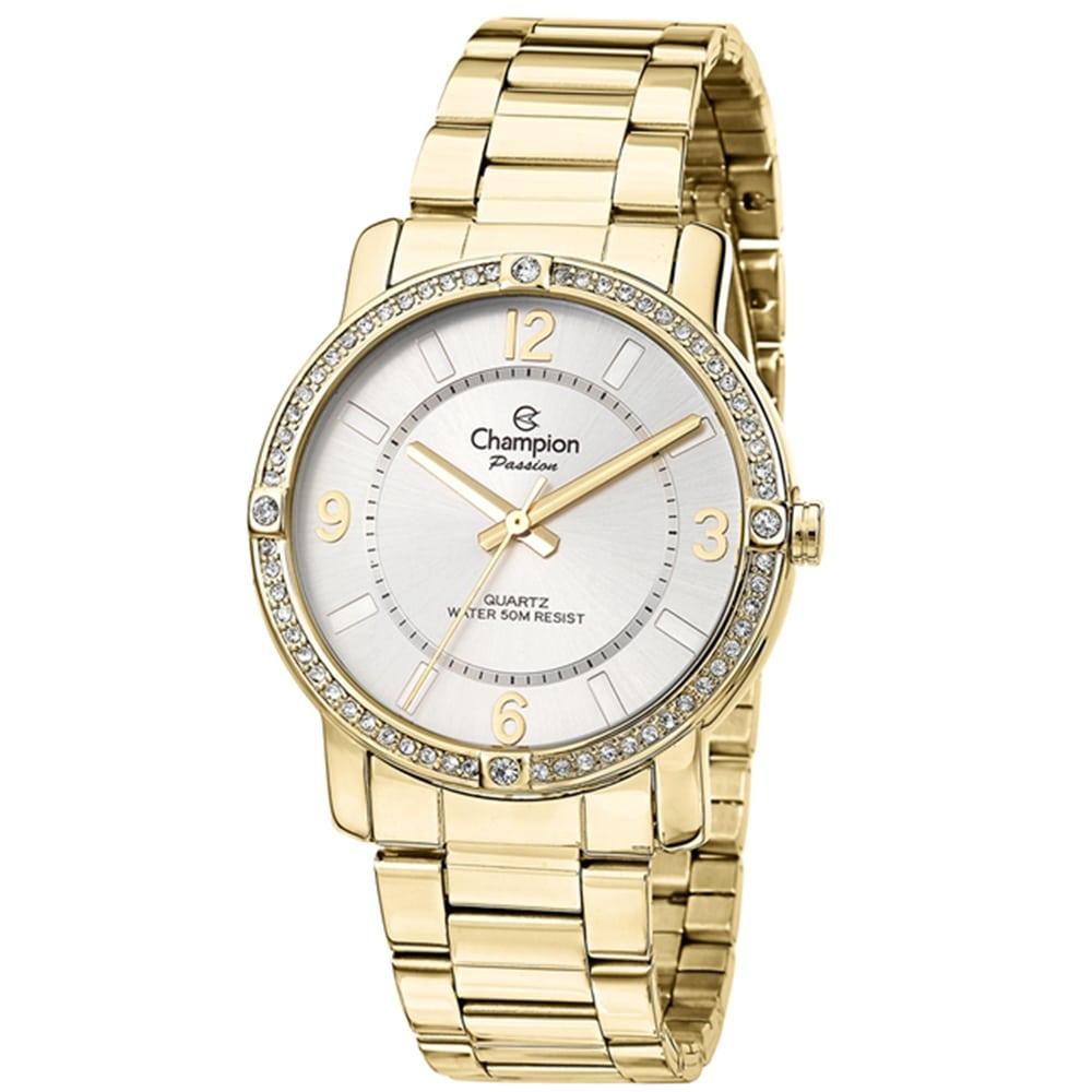Relógio Champion Feminino Dourado Passion Analógico CN29301H