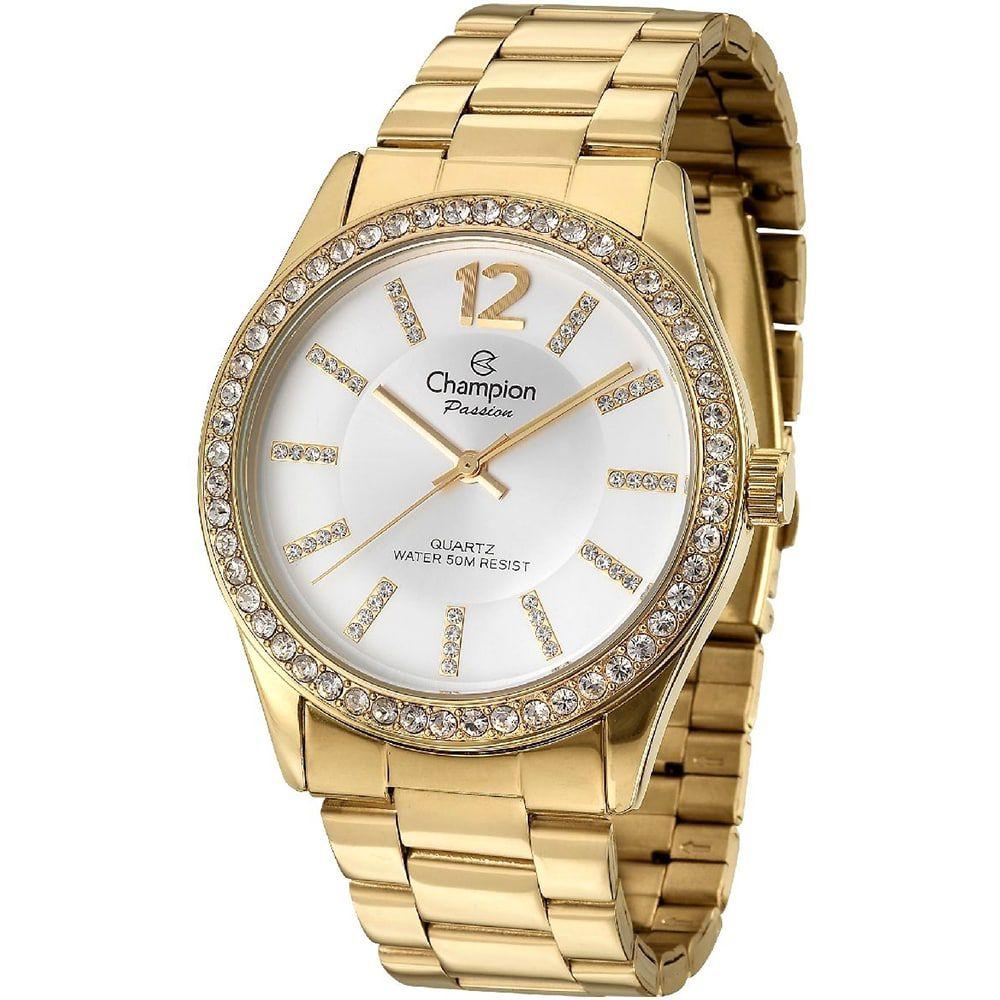 Relógio Champion Feminino Dourado Passion CN29267H