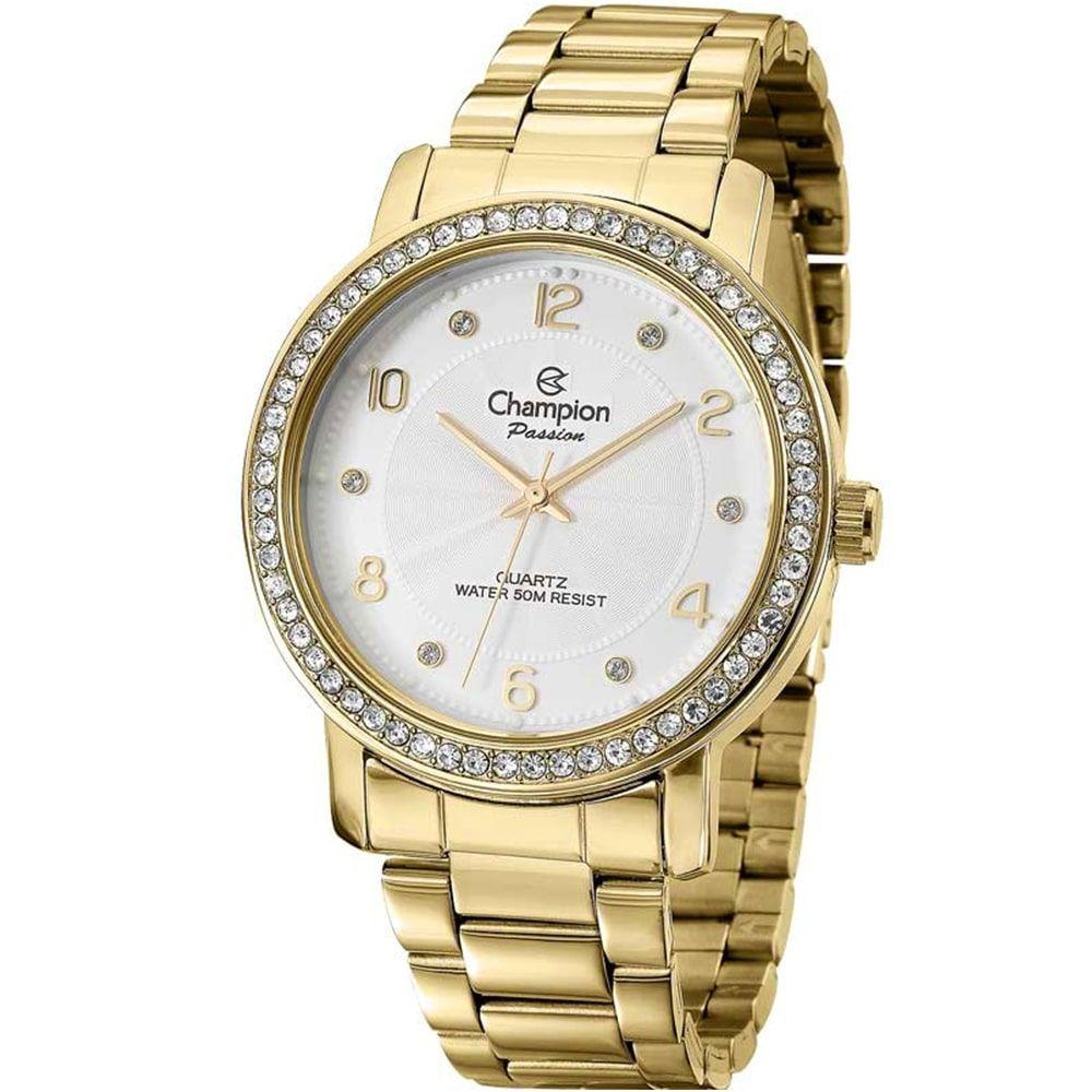 Relógio Champion Feminino Dourado Passion Social CN29249H