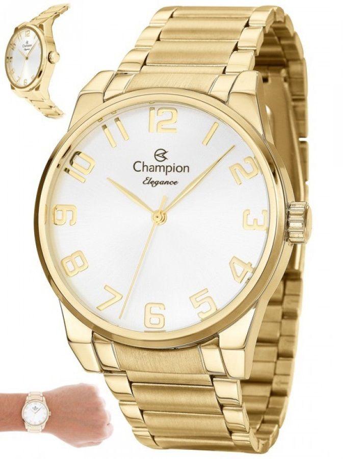 Relógio Champion Feminino Elegance Dourado CN27652H