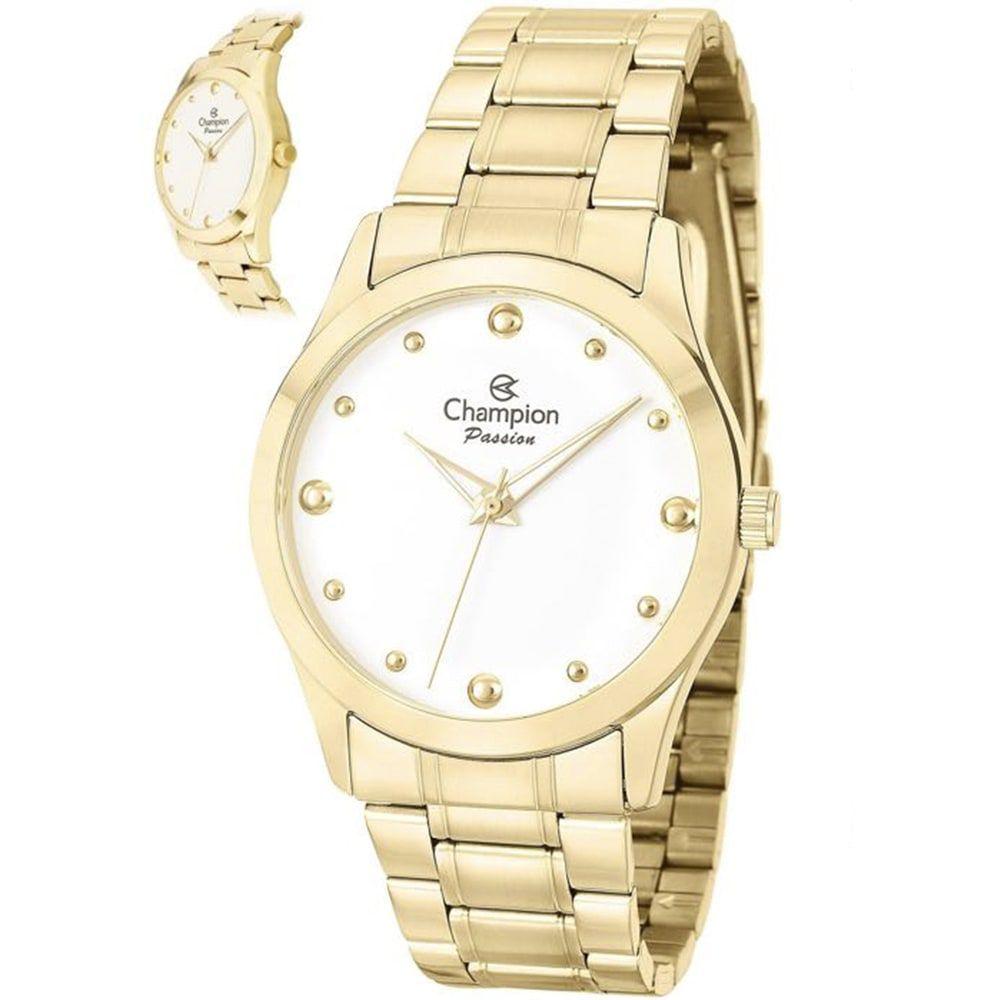 Relógio Champion Feminino Passion Dourado CN27983H