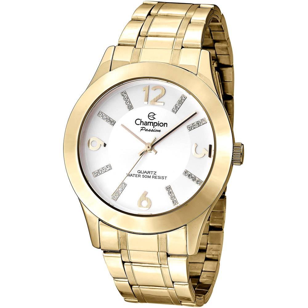 Relógio Champion Feminino Passion Dourado CN28713H