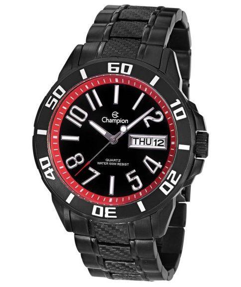 Relógio Champion Masculino Preto C/ Calendário CA30918P