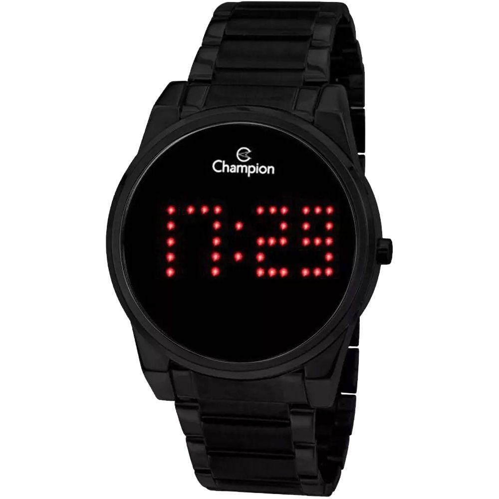 Relógio Champion Unissex Digital Led Black CH40053D