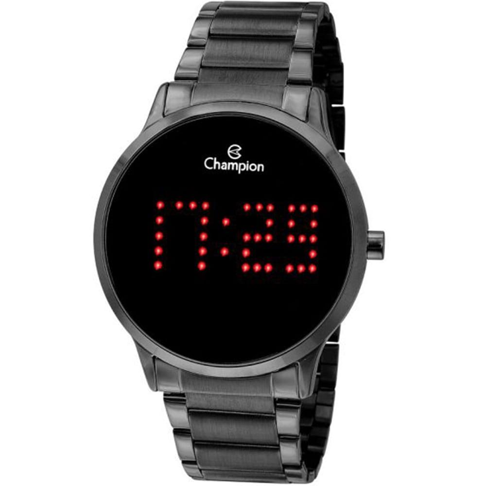 Relógio Champion Unissex Digital Led Prateado CH40035D