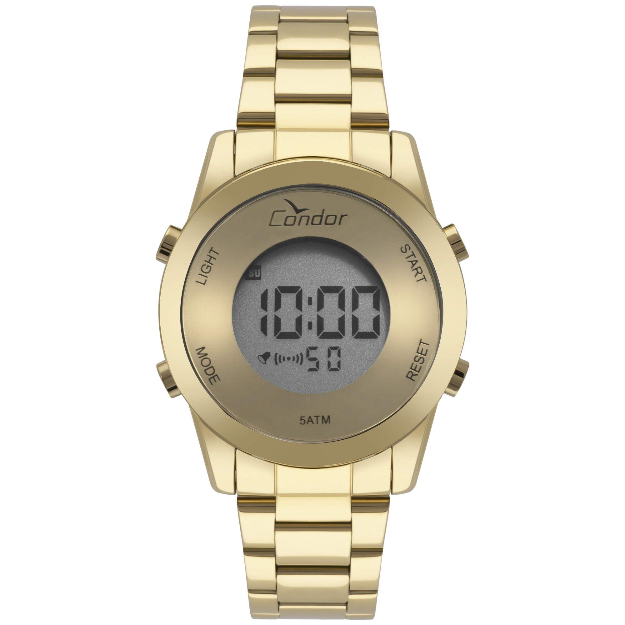Relógio Condor Feminino Bracelete Digital Dourado COBJ3279AA/4D