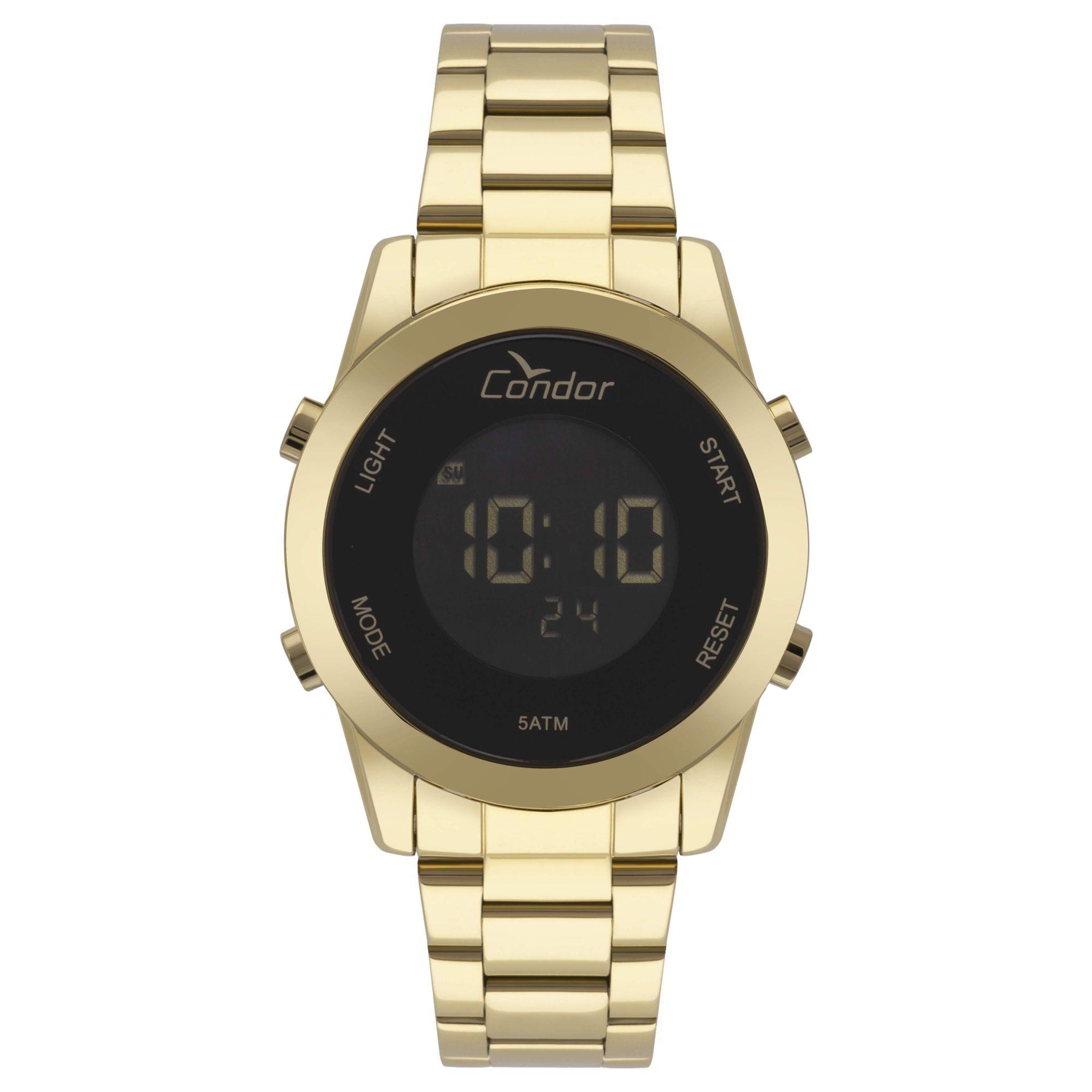 Relógio Condor Feminino Bracelete Digital Dourado COBJ3279AA/4P