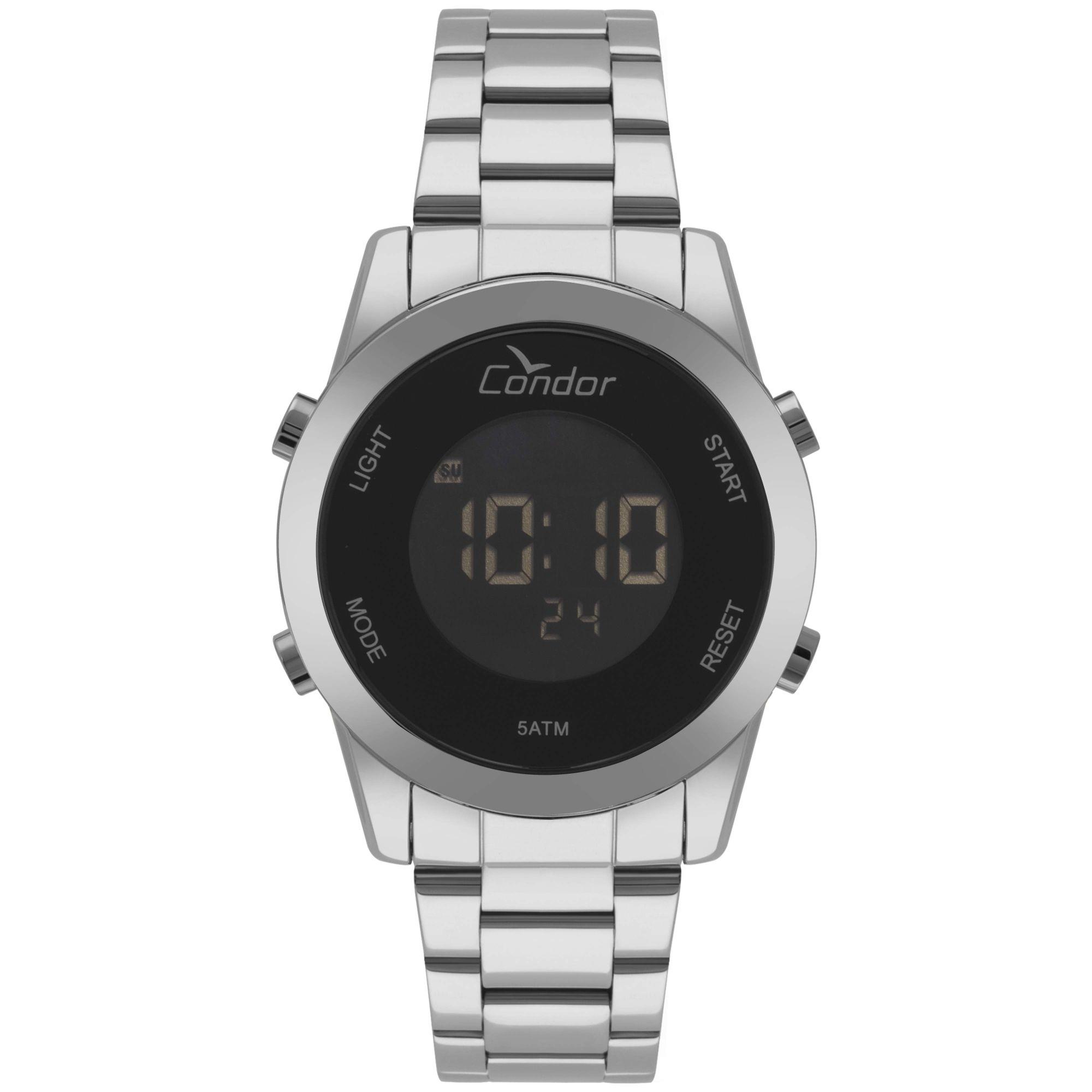 Relógio Condor Feminino Bracelete Digital Prata COBJ3279AB/3P