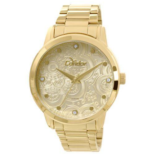 Relógio Condor Feminino Dourado Top Fashion CO2036CL/4X