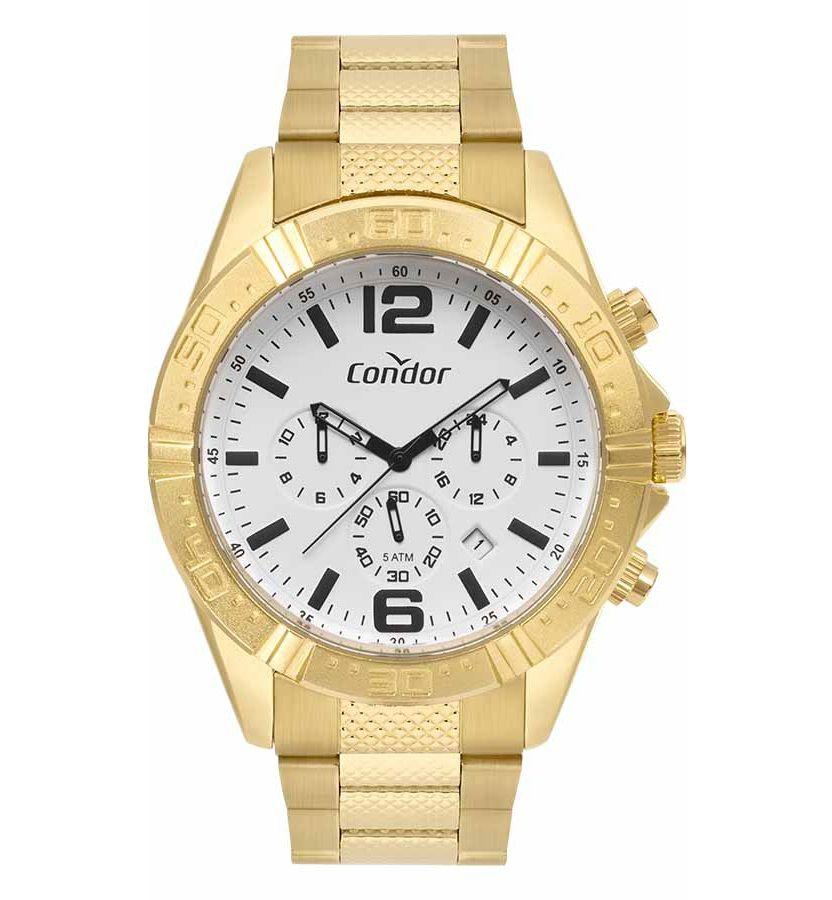 Relógio Condor Masculino Civic Cronógrafo Dourado COVD33A34AA/4B
