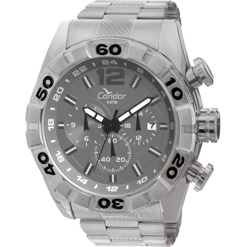 Relógio Condor Masculino Civic Prata e Cinza COVD33AB/3C