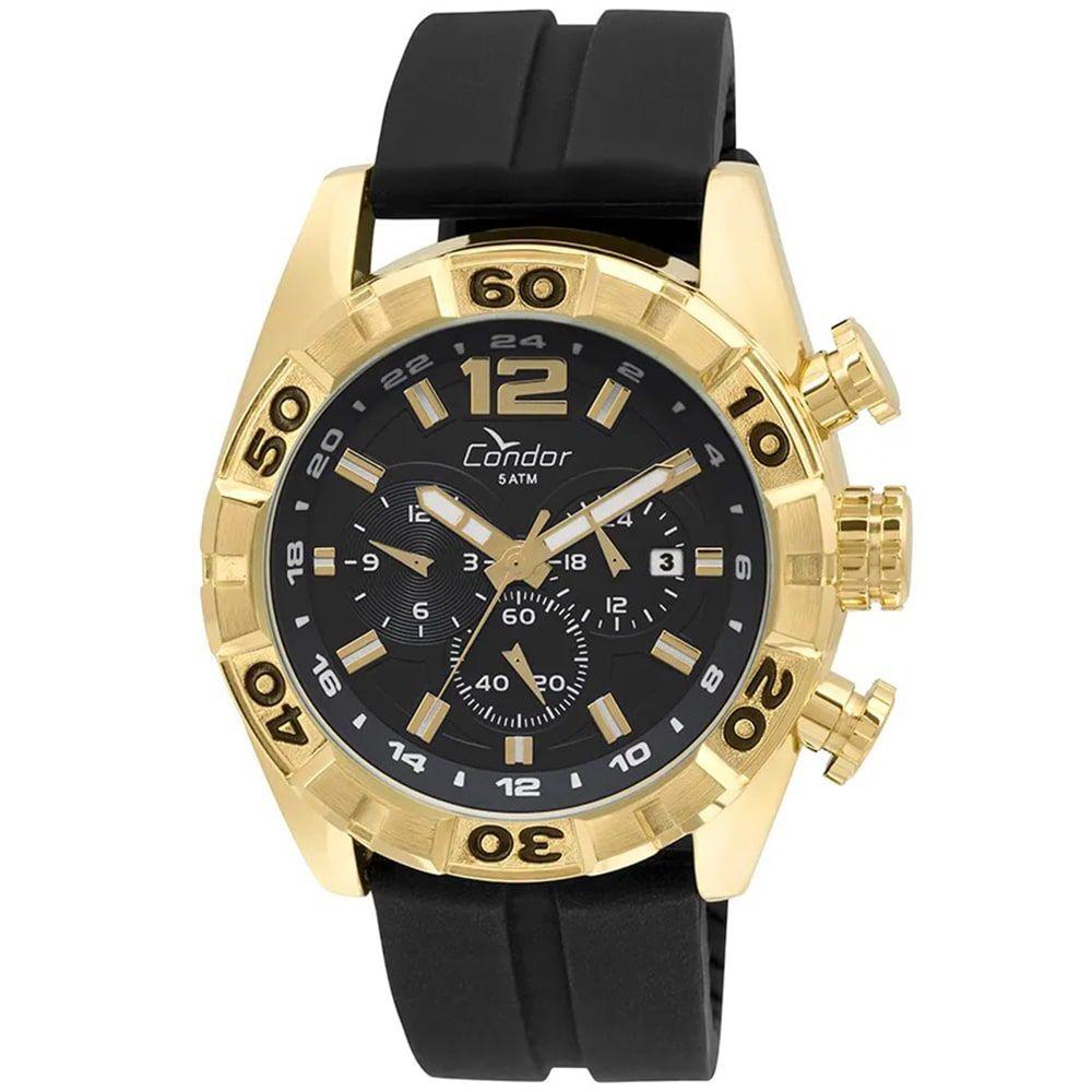 Relógio Condor Masculino Civic Preto e Dourado COVD33AV/8P