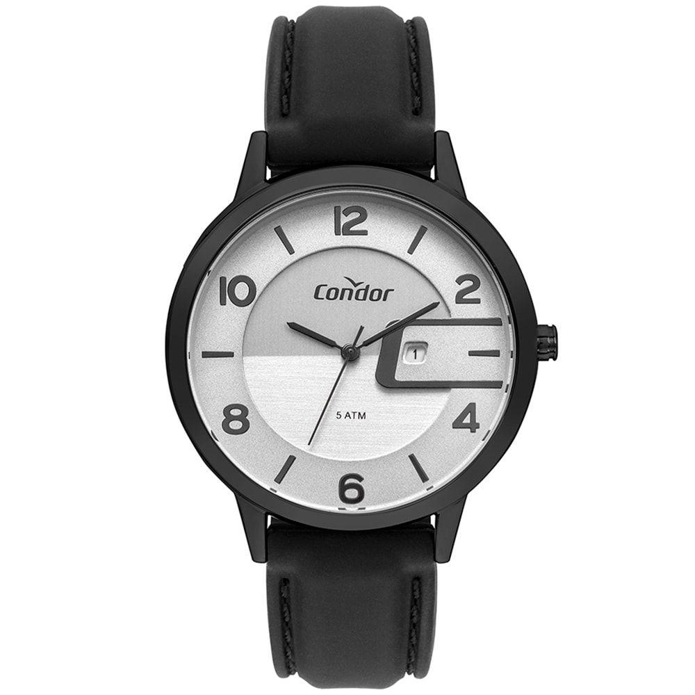 Relógio Condor Masculino Couro C/ Calendário Chumbo COVJ22B31AC/2C
