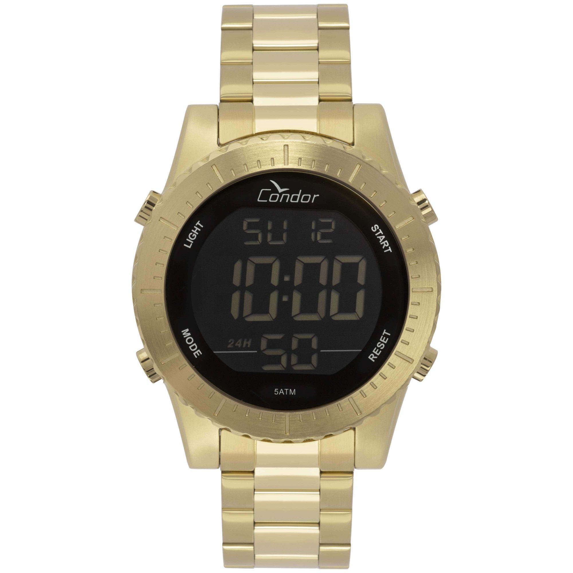 Relógio Condor Masculino Digital Casual Dourado COBJ3463AA/4D