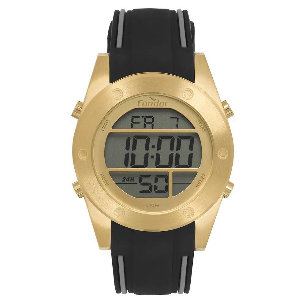 Relógio Condor Masculino Digital Dourado COBJ3463AF/3D
