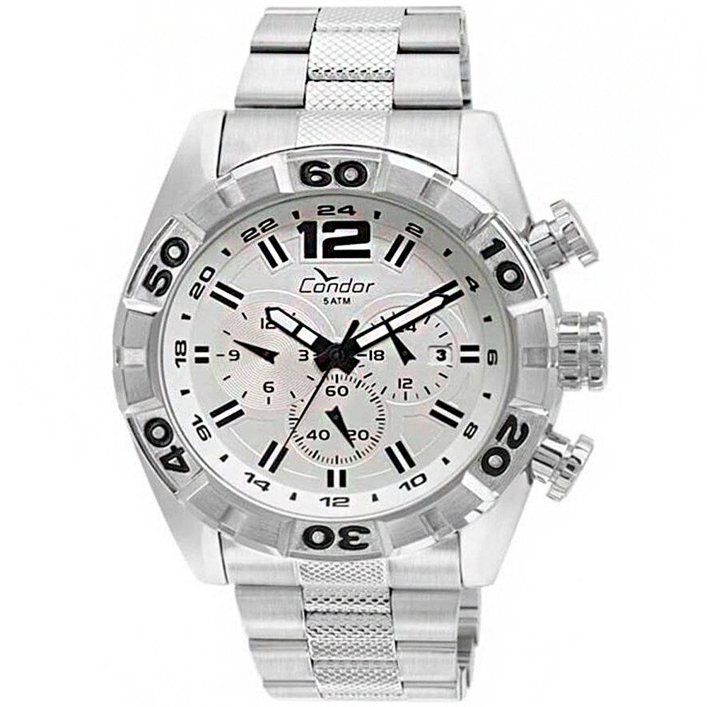 Relógio Condor Masculino Prata Civic Cronógrafo COVD33AU/3B