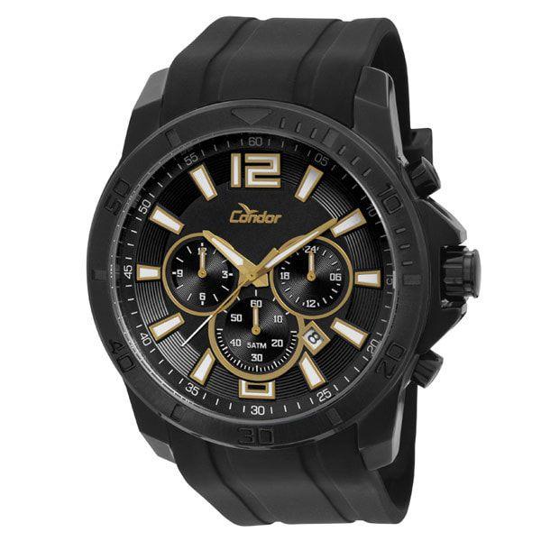 Relógio Condor Masculino Preto Dual Time COVD33AD/3P