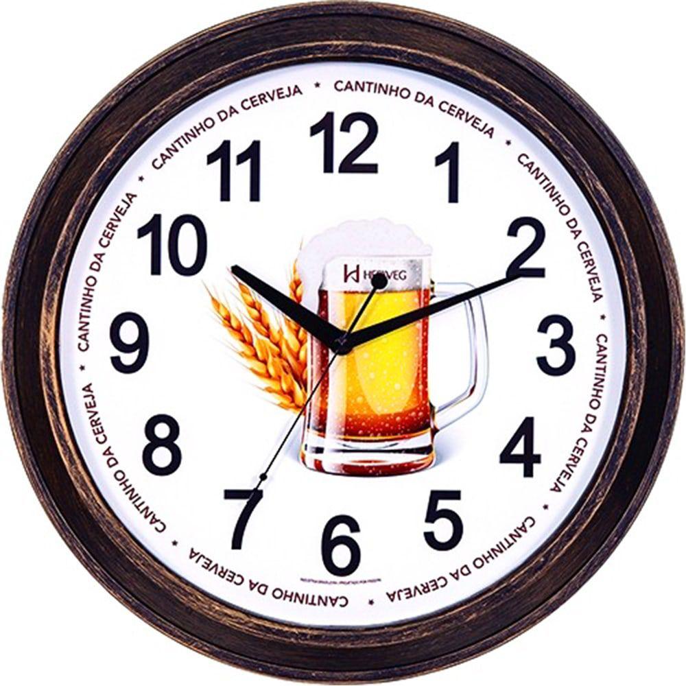 Relógio de Parede Herweg Decorativo Cerveja 660079 245