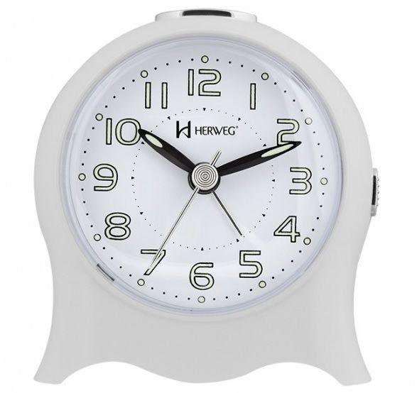 Relógio Despertador Herweg Quartz Branco 2572 021
