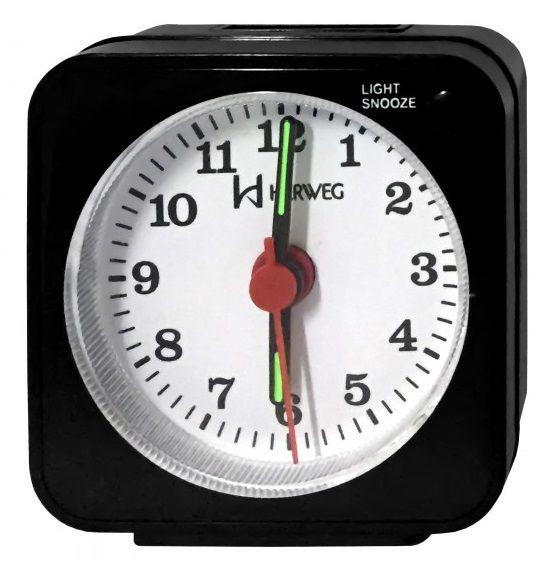 Relógio Despertador Herweg Quartz Preto 2510 034