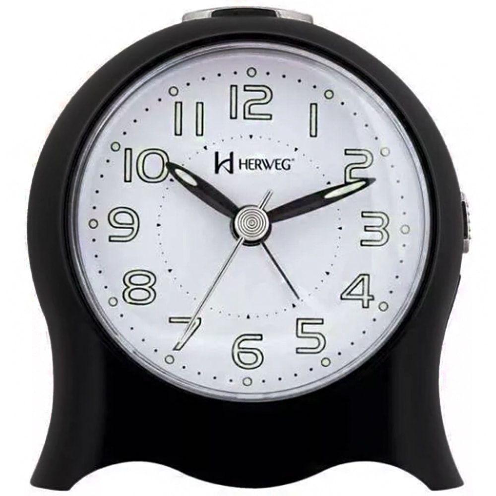 Relógio Despertador Herweg Quartz Preto 2572 034