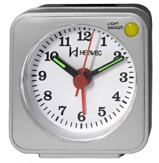Relógio Despertador Herweg Quartz Prata Metálico 2510 070
