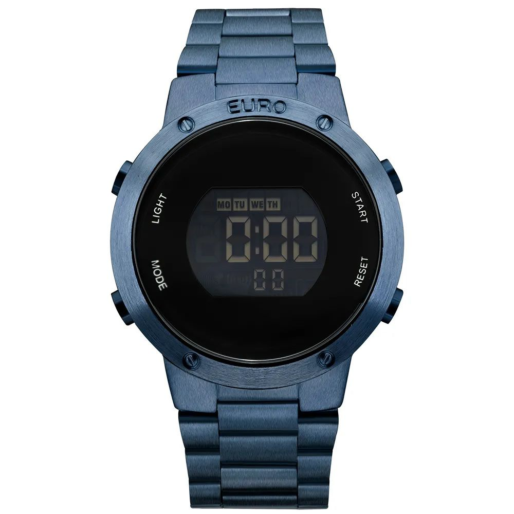 Relógio Euro Digital Feminino Fashion Fit Azul EUBJ3279AC/4A